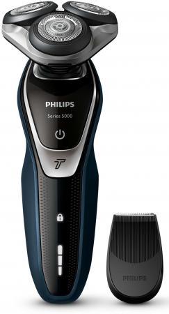 Бритва Philips S5310/06 чёрный синий бритва philips s1520 04 чёрный