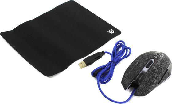 Мышь проводная Defender Shock GM-110L чёрный USB 52110