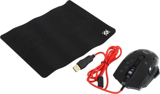 Мышь проводная Defender Killer GM-170L чёрный USB 52170