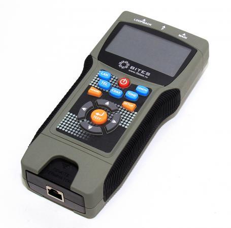 Тестер кабеля 5bites EXPRESS LY-CT030 PRO многофункциональный для RJ11/12/45/BNC, TDR, LCD  цена и фото