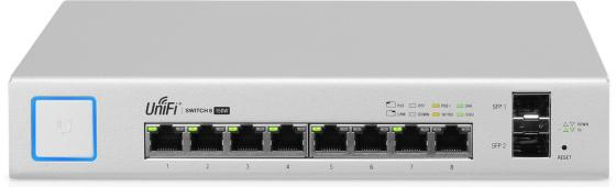 Коммутатор Ubiquiti UniFi Switch 8 150W управляемый UniFi 8 портов 10/100/1000Mbps PoE(150W) 2xSFP US-8-150W-EU