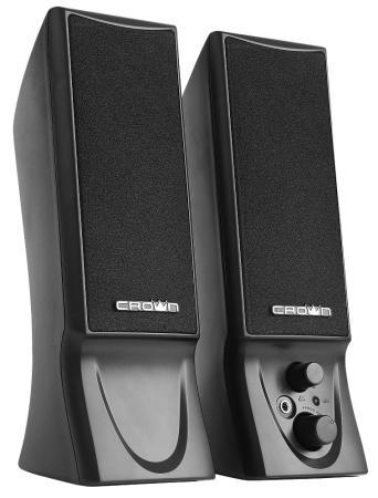 Колонки Crown CMS-602 2x3 Вт черный колонки crown cms 3801