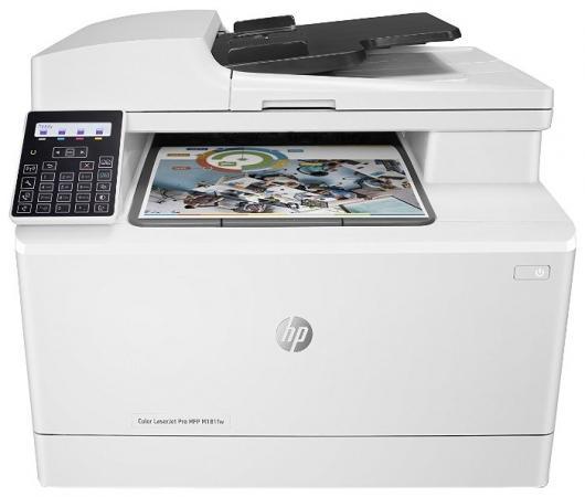 МФУ HP Color LaserJet Pro M181fw T6B71A A4 16/16ppm 1200x1200dpi ADF 256Мб Ethernet USB Wi-fi