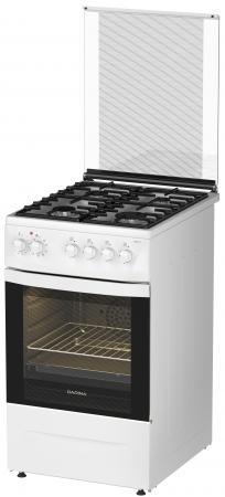 Комбинированная плита Дарина 1D1 КМ 241 311 W белый газовая плита darina 1d1 км 241 311 w электрическая духовка белый