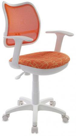 Кресло детское Бюрократ CH-W797/OR/GIRAFFE спинка сетка оранжевый сиденье жираф Giraffe