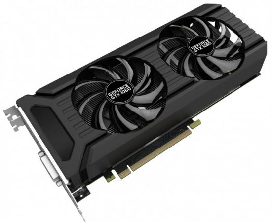 Видеокарта 6144Mb Palit GeForce GTX1060 PCI-E 192bit GDDR5 DVI HDMI DP HDCP NE51060015J9-1061D OEM kcas 850gm