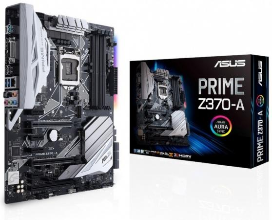 Материнская плата ASUS PRIME Z370-A Socket 1151 v2 Z370 4xDDR4 3xPCI-E 16x 4xPCI-E 1x 6 ATX k55dr motherboard for asus k55de rev2 0 mainboard hd7470 1g fs1 socket 100% tested