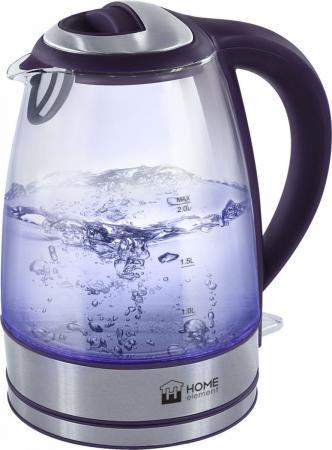 Чайник HOME ELEMENT HE-KT163 2200 Вт темный топаз 2 л металл/стекло