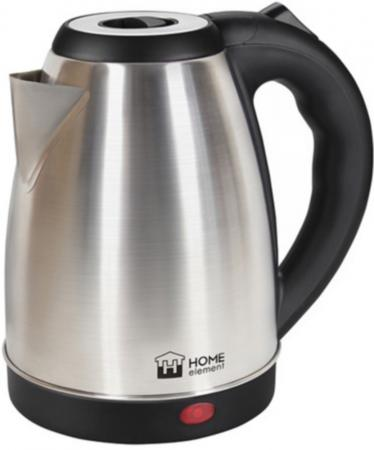 Чайник HOME ELEMENT HE-KT169 1800 Вт серебристый чёрный 2 л металл