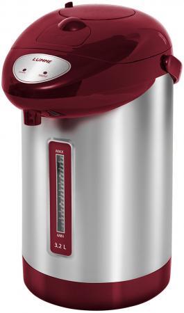 Термопот Lumme LU-296 900 Вт красный гранат 3.2 л нержавеющая сталь