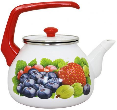 Фото - Чайник INTEROS 16012 Фреш рисунок 3 л металл чайник interos 15157 аппетит 3 л металл белый рисунок