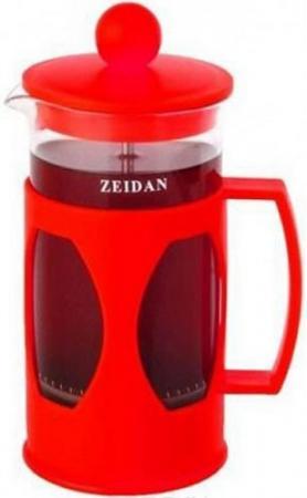 Френч-пресс Zeidan Z-4099 красный 0.6 л пластик/стекло