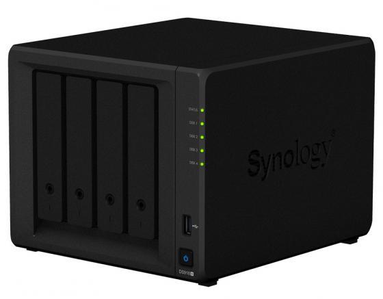 Сетевое хранилище Synology DS918+ 4x2,5 / 3,5 сетевое хранилище synology ds1618 16x2 5 3 5