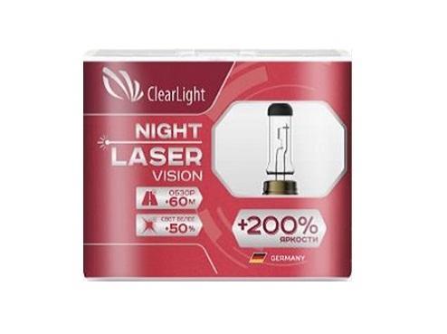 Комплект ламп галогненовых H1(Clearlight)12V-55W Night Laser Vision +200% Light (2 шт.) лампа osram h4 60 55w 12v night breaker unlimited 2 шт