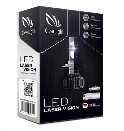 Комплект ламп светодиодных LED Clearlight Laser Vision HB4 4300 lm 24W (2 шт) комплект светодиодных ламп головного света starled 2g h1 25w 2 шт
