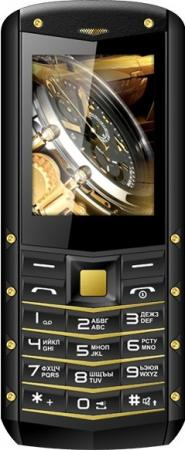 Мобильный телефон Texet TM-520R черный жёлтый 2.4 32 Мб телефон
