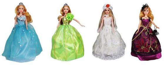 """Платье для кукол Shantou Gepai """"Бальное"""" в ассортименте M6820"""