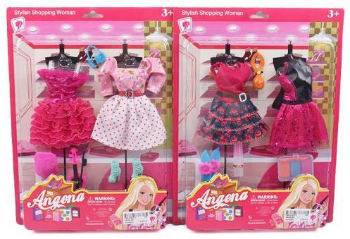 """Платье для кукол Shantou Gepai """"Angena"""" в ассортименте платье для кукол shantou gepai"""