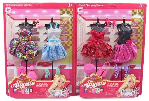 Платье для кукол Shantou Gepai Angena в ассортименте коляски для кукол shantou gepai трость 11699b
