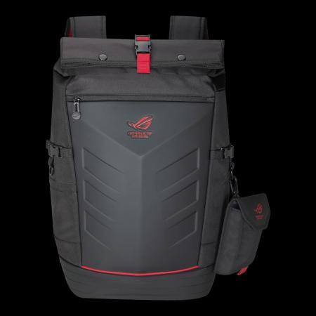 """Рюкзак для ноутбука 17"""" ASUS ROG Ranger нейлон резина черный красный"""