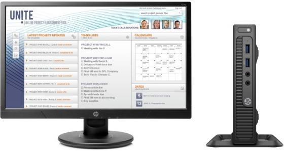 Неттоп HP Bunble 260 G2.5 Mini Intel Core i3-6100U 4Gb 500Gb Intel HD Graphics 520 Windows 10 Professional черный 2TP21EA