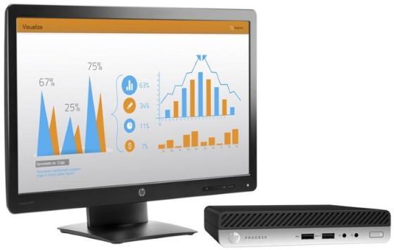 "Неттоп 23"" HP ProDesk 400 G3 Mini 1920 x 1080 Intel Core i5-7500T 4Gb 500Gb Intel HD Graphics 630 Windows 10 Professional черный 2KL67ES"