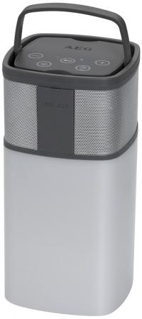 Bluetooth-аудиосистема AEG BSS 4841 бело-серый портативная акустика aeg bss 4804 100вт bluetooth черный серый