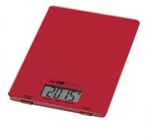 Весы кухонные Clatronic KW 3626 красный