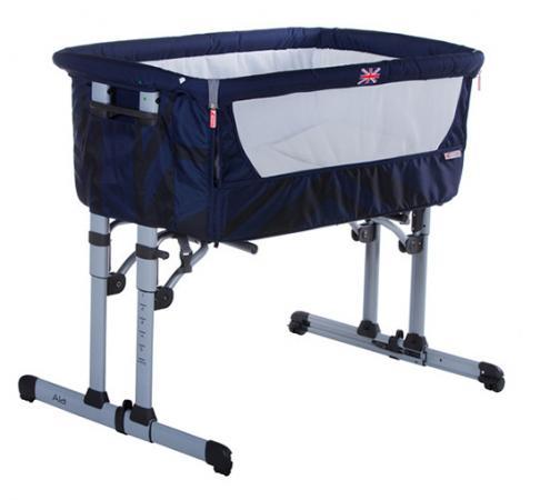 Кроватка-колыбель Zibos ALA (britain blue)