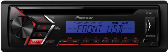 Автомагнитола Pioneer DEH-S100UBB USB MP3 CD FM RDS 1DIN 4x50Вт черный автомагнитола kenwood kmm 103ry usb mp3 fm rds 1din 4х50вт черный