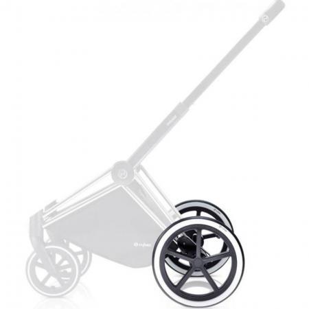 Комплект задних колес для коляски Cybex PriamTR (chrome) комплект задних колес для коляски cybex priam all terrain matt black