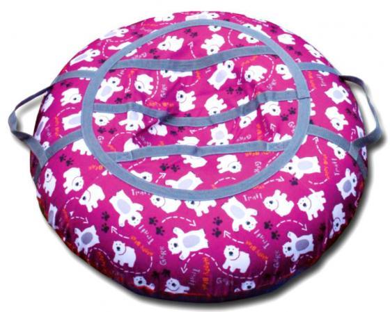 Тюбинг BELON Медведи СВ-003-МР резина текстиль фиолетовый тюбинг belon тент спираль аквапарк 85см
