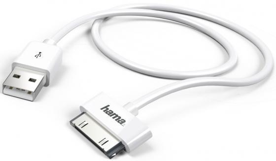 Кабель Hama H-173642 USB-30-pin белый 1м