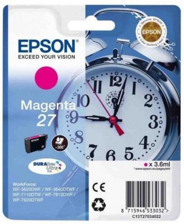 Картридж Epson C13T27034022 для Epson WF7110/7610/7620 пурпурный procolor continuous ink supply system ciss europe area 27 t2701 for epson wf 7110 wf7110 wf 7110 7110dtw wf 7110dtw wf7110dtw
