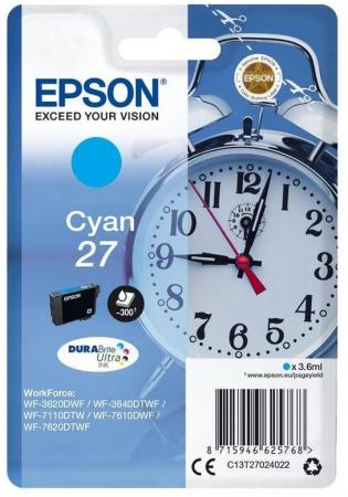 Картридж Epson C13T27024022 для Epson WF7110/7610/7620 голубой картридж epson yellow 27xl durabrite ultra for wf7110 7610 7620