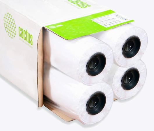 Бумага Cactus Eco CS-LFP80-610457E-4 610мм-45м 80г/м2 втулка 50.8мм 4шт