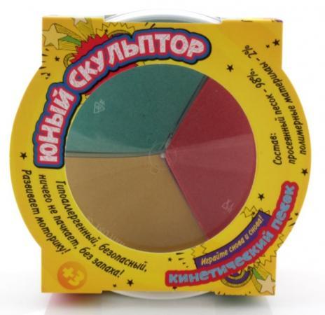 Песок для лепки ЮНЫЙ СКУЛЬПТОР Светофор 01192 3 цвета