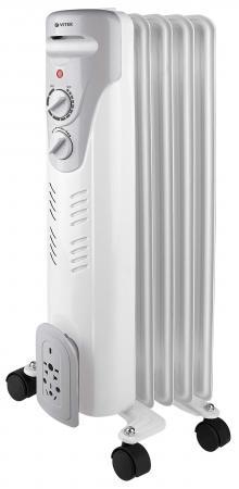 Масляный радиатор Vitek VT-1707(W) 1000 Вт белый цена 2017