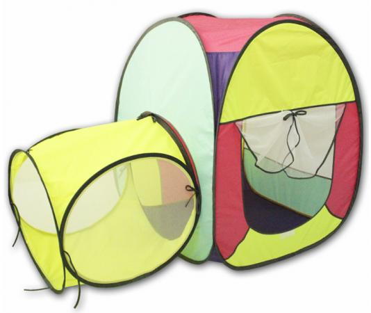Игровая палатка BELON Квадрат с тоннелем 1 секция ПИ-004КТ-СТ5