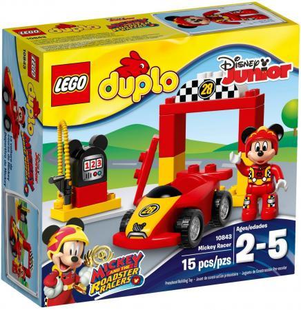 Конструктор LEGO Duplo: Гоночная машина Микки 15 элементов 10843 конструктор lego duplo лесной заповедник 10584