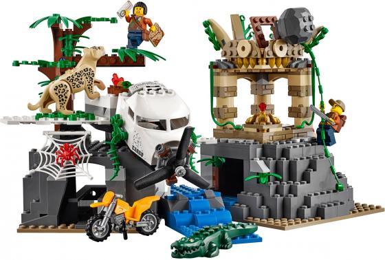 Конструктор LEGO City: База исследователей джунглей 813 элементов 60161 конструкторы lego lego грузовой вертолёт исследователей джунглей city jungle explorer 60158