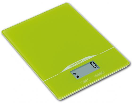 Весы кухонные First FA-6400-2-GN зелёный first fa 6400 black весы кухонные