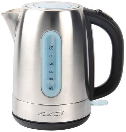 Чайник Scarlett SC-EK21S38 2200 Вт серебристый 1.7 л нержавеющая сталь обогреватель scarlett sc 21 2009 s2
