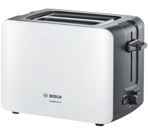 Тостер Bosch TAT6A111 серый белый