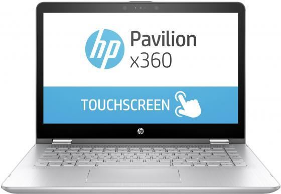 "Ноутбук HP x360 — 14-ba020ur 14"" 1920x1080 Intel Core i5-7200U 1 Tb 128 Gb 6Gb nVidia GeForce GT 940MX 2048 Мб серебристый Windows 10 Home цена"