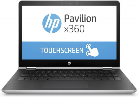 Ноутбук HP Pavilion x360 14-ba016ur 14 1920x1080 Intel Core i3-7100U 500 Gb 6Gb nVidia GeForce GT 940MX 2048 Мб серебристый черный Windows 10 Home