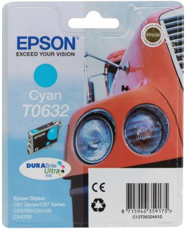 Картридж Epson C13T06324A10 для Stylus Color C67 C87 CX3700 CX4100 CX4700 Cyan Голубой el c67 color ink jet cartridges for epson c67 c87 cx3700 cx4700 cx4100 printers