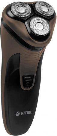 Бритва Vitek VT-8267(BN) чёрный коричневый бритва vitek vt 2374 bk чёрный