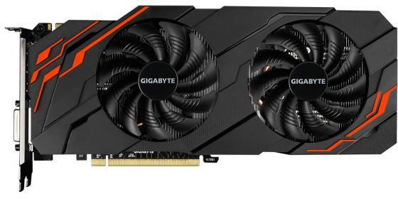 Видеокарта 8192Mb Gigabyte GeForce GTX1070 PCI-E 256bit GDDR5 DVI HDMI DP GV-N1070WF2OC-8GD 2.0 Retail видеокарта gigabyte pci e gv n710sl 1gl nvidia