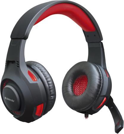 Гарнитура Defender Warhead G-450 черно-красный 64146